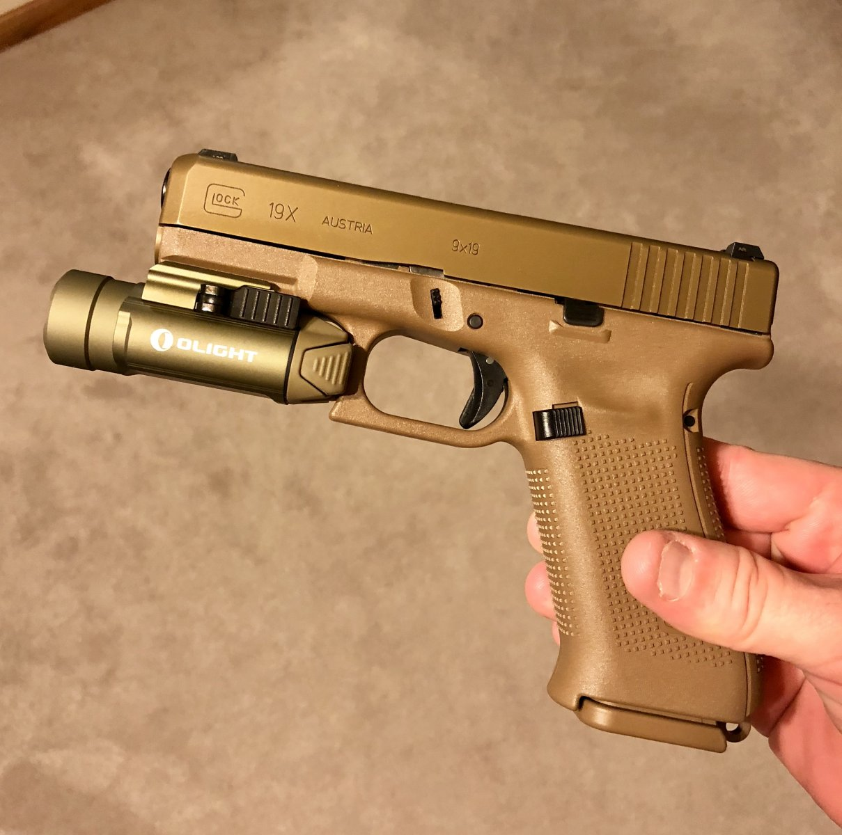G19X with Olight PL2 FDE | The Leading Glock Forum and Community