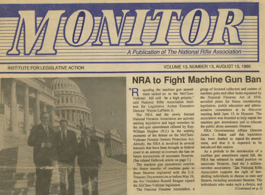 the main information about the national rifle association and the institute for legislative action