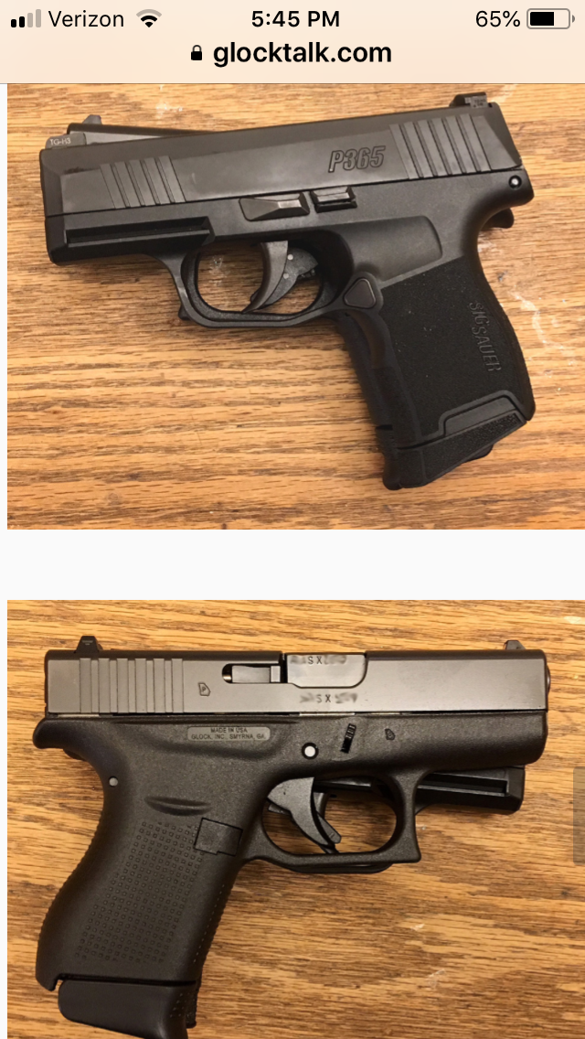 handholding, G43x vs P365 | The Leading Glock Forum and