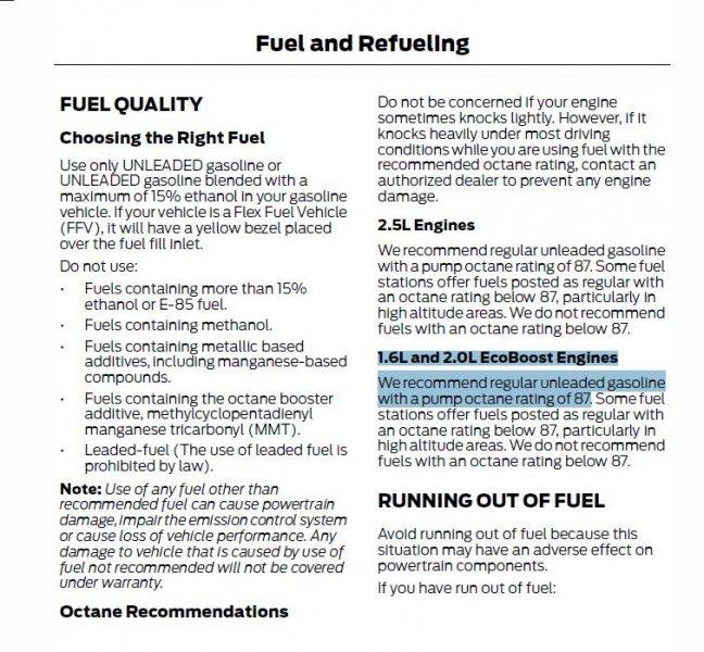 anyone else using premium gas     ?