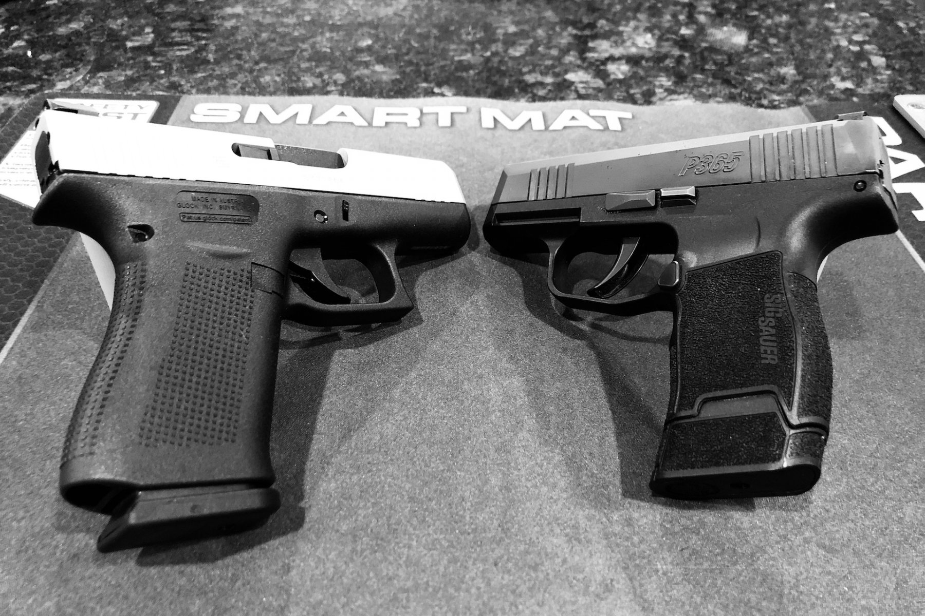 A short range session comparing the P365 vs the G43X