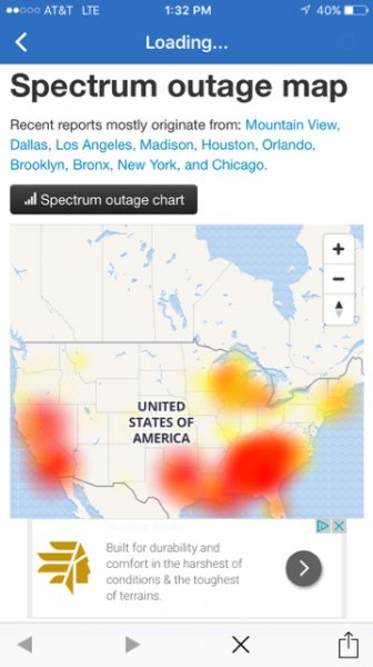Spectrum Internet System Wide Outage