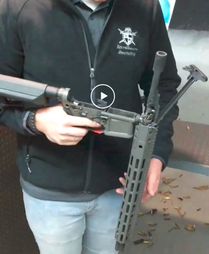 One lucky Canadian - AR blows up on full auto