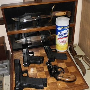 Guns & Lysol Wipes