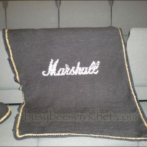 Marshall Amplifier Baby Blanket