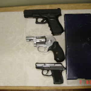 3 CCW Guns, size comparison